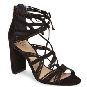Vince Camuto  Mindie Block Heel Ghillie Lace up